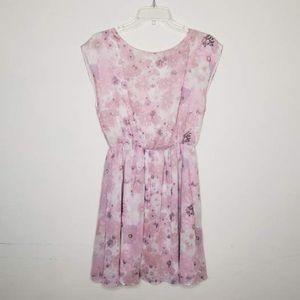 Alice + Olivia Pink Floral Silk Dress